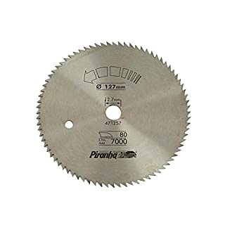 Piranha Fine Cross Circular Saw Steel Blade, 127 x 12.7 mm x 80T