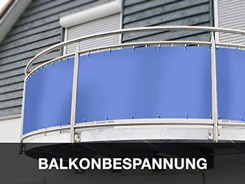 Balkon Sichtschutz (80cm Höhe) - Maßangefertigte Balkonumrandung aus PVC/LKW-Plane | BLICK - und WINDDICHT | Extrem Robust - Verschiedene Farben und Größen (80cm x 720cm, Weiß RAL9010) -