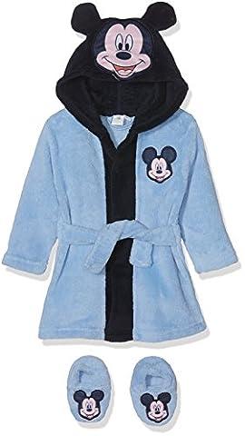 Disney Baby-Jungen Bademantel Mickey Mouse Head Blau, 80