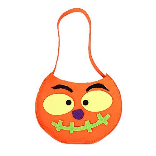 Kürbis-Style Taschen mit Lustigen Figur Muster Oder Traditionellen Halloween Candy Bag Ideal für Kinder (Orange) 1 Stück