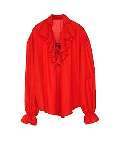 Widmann 4183D - Piraten / Renaissaince Bluse - rot - Gr.M (Femme Pirate Kostüm)