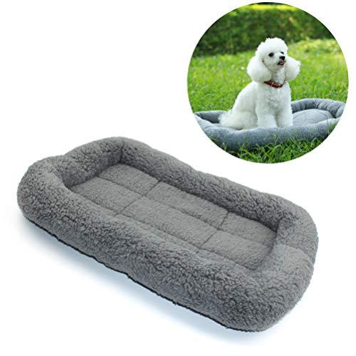 POPETPOP 45 * 30cm Haustier Hund wasserdicht weich warm umweltfreundlich Haustier grau Decke Bett Matratze Berbervlies Vlies Kissen für Welpen Hunde Haustiere Katzen -