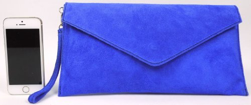 Big Handbag Shop , Damen Clutch One, Blau - Blu (Blu navy) - Größe: One Size Dunkelblau