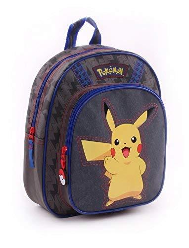 Vadobag-Pokemon-Pika-Pika-Sac-A-Dos-Gris-31Cm-1-Poche-Soufflet-Mochila-infantil-31-cm