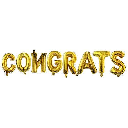 TOYMYTOY CONGRATS Graduation Luftballons Jumbo 16 Zoll verdicken Gold Aluminiumfolie Luftballons für Party Supplies