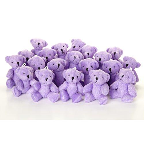 NEW Cute And Cuddly Little PURPLE Teddy Bear X 23 - Gift Present Birthday ()