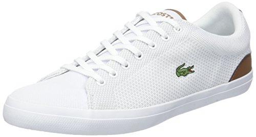 Lacoste Lerond 318 1 CAM, Zapatillas para Hombre, Blanco (Wht/Tan 291), 41 EU