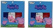 PeppaPig Calzoncillos de Ropa Interior Peppa Wutz con Georg Wutz en el Paquete de 6 Paquetes de 100% algodón,