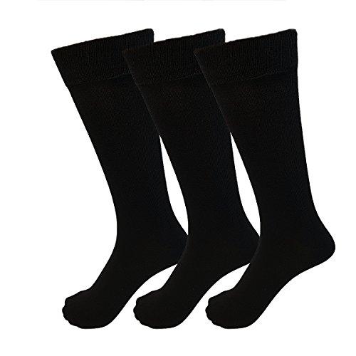 Mens schwarze Socken, (12 par) formale Kleid Socken, Arbeitssocken von BlueRays | Atmungsaktiv, komfortabel und langlebig Baumwolle Rich Herren Designer Socken, perfekte Passform Herren Socken UK 6 (Thorlo Merino Wolle)