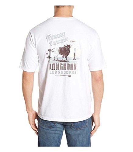 Tommy Bahama Longhorn Longboards Large White T Shirt
