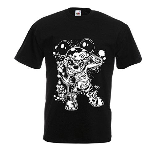 lepni.me Männer T-Shirt Eine Maus mit Einem tollen Halloween-Party-Kostüm (XXXX-Large Schwarz Mehrfarben)
