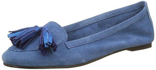 Bensimon Pompon, Mocassins Femme Bleu (Bleu)