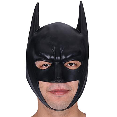 Liabb Batman Kostüm Hero Black Half Mask Helm für Kinder und Erwachsene für Partyzubehör,A,Within59~61CM
