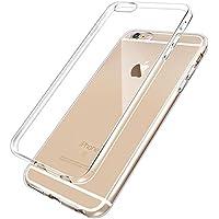 Cover iPhone 6, 6S, NEWC® Custodia Cover Case Caso Trasparente Crystal Clear Silicone Gel Ultra Slim Premium semi-trasparente / Adesione accurate / non dolce Dimensioni per Cover iPhone 6, 6S