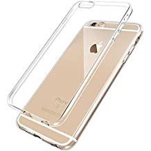 Cover iPhone 6, 6S, NEWC® Custodia Cover Case Caso Trasparente Crystal Clear Silicone Gel Ultra Slim Premium semi-trasparente / Adesione accurate / non dolce Dimensioni per Cover iPhone 6, 6S