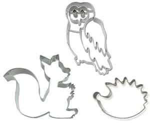 Ausstechset automne animaux 8 h risson cureuil et for Lot meuble ecureuil