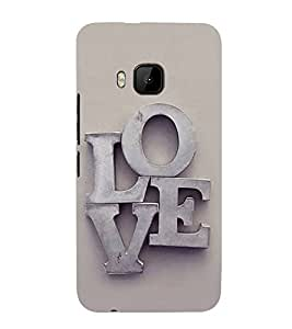 FUSON Love Letters In Metals 3D Hard Polycarbonate Designer Back Case Cover for HTC One M9 :: HTC One M9S :: HTC M9