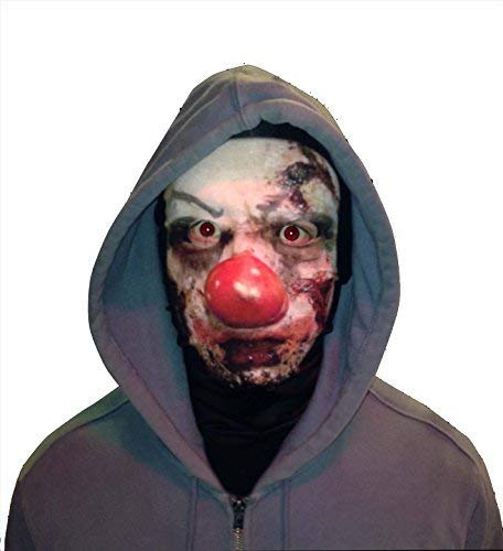 L&S PRINTS FOAM DESIGNS Halloween Scary Clown Face Novelty Fun Stoff Face Maske Design Snood Gesichtsmaske hergestellt in ()