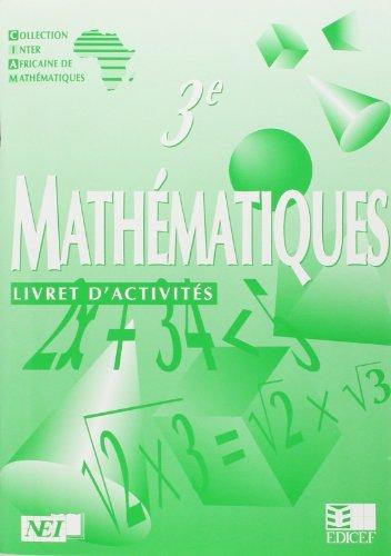 Mathématiques 3e, livret d'activités