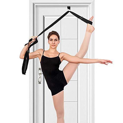 CTlite Beindehner, Stretch-Ausrüstung, Beingurt, Tür-Flexigkeitstrainer mit Tragetasche für Yoga, Ballett, Cheer Dance, Gymnastik, Taekwondo und MMA, schwarz