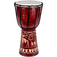 40cm Djembe Trommel Bongo Afrika Art Elefant Braun Super Klang