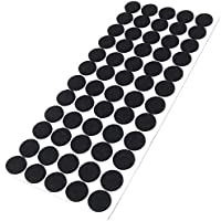 60 x felt pads | Ø 0.79'' (Ø 20 mm) | black | round | self-adhesive furniture glides with felt thickness of 0.138''/3.5 mm in top-quality by Adsamm
