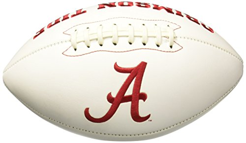 Licensed NCAA Signature Series Full Size Fußball, weiß