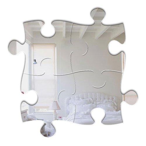 Mungai Espejos - rompecabezas en forma de cristal acrílico Espejo, 27 cm