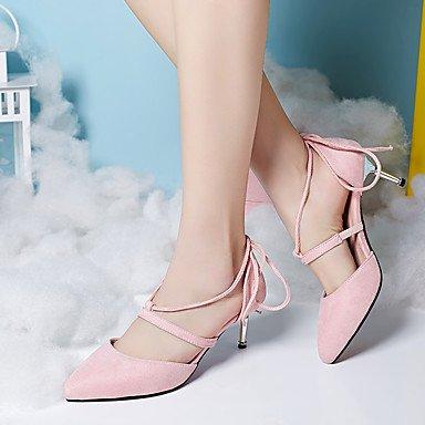 LFNLYX Sandales femmes Printemps Été Automne Autres PU Partie & robe de soirée boucles et d'autres occasionnels Bleu Noir Rose Autres Pink