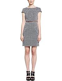 Comma Damen Kleid 85.899.82.0081, Knielang