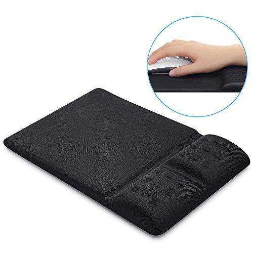Maus Pad, GIM großes Maus Pad Matte Mit Handgelenk Rest Gel Support Comfort Memory Foam Rutschfeste Unterseite für Laptop PC Computer Desktop