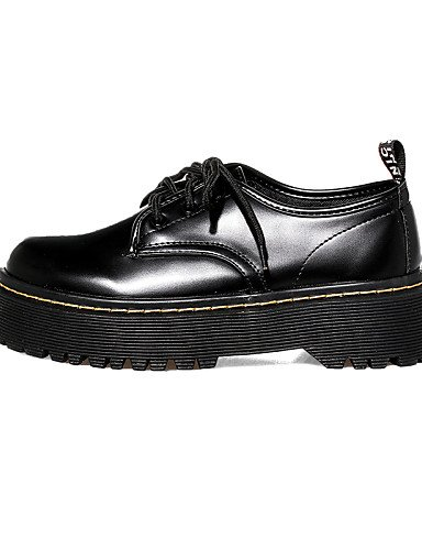 ZQ hug Scarpe Donna-Sneakers alla moda-Casual-Creepers / Punta arrotondata / Chiusa-Plateau-Finta pelle-Nero , black-us6 / eu36 / uk4 / cn36 , black-us6 / eu36 / uk4 / cn36 black-us8 / eu39 / uk6 / cn39