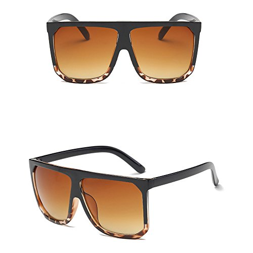 WooCo Ausverkauf! Retro Big Square Frame Sonnenbrillen für Herren und Damen, Vintage Sunglasses Unisex Fashion Polarized Sunglasses(A,One size)