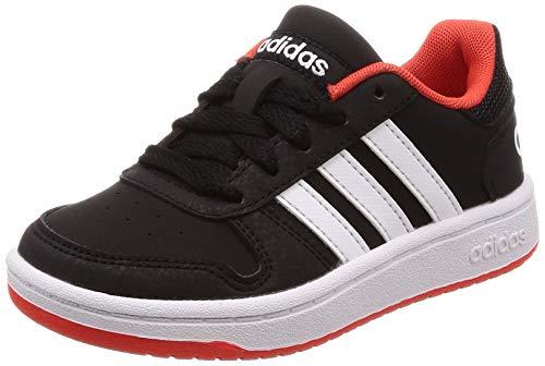 adidas Unisex-Kinder Hoops 2.0 K Basketballschuhe, Mehrfarbig (Cblack/Ftwwht/Hirere B76067), 36 2/3 EU