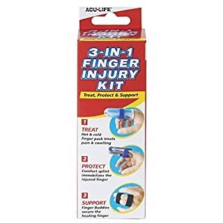 Acu-Life 3-in-1 Finger Injury Kit   Finger Immobiliser   Helps Treat Any Sports Finger Injury   Hot & Cold Pain Relief at Home