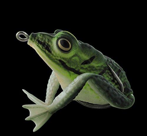 Topwater Frosch grün Krauthaken Realistic Frog -