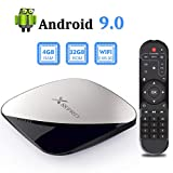 Android 9.0 TV Box, TUREWELL Android Box RK3318 Quad-core 4GB RAM 32GB ROM Support Dual WiFi 2.4GHz/5GHz/3D/4K/H.265 Smart TV Box