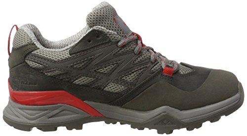 The North Face Hedgehog Hike Gore-Tex, Chaussures de Randonnée Basses Femme Gris (Dark Gull Grey/red)