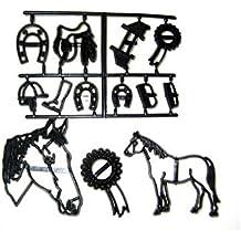 Patchwork Cutter Set Pferde 13-tlg., Kunststoff