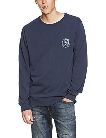 Diesel Mohawk Logo Crew-Neck Men's Sweatshirt, Navy Medium