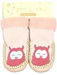 Sulida Lindo Unisex de Dibujos Animados Niño Bebé Algodón Antideslizante Zapatilla Piso Calcetines Zapatos Niños Mocasines