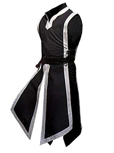 & Mantel Steampunk Gothic Jacke Vintage Viktorianischen Cosplay Kostüm Smoking Jacke Uniform, Mittelalter Kleidung Ärmellos Zweireiher Weste Jacke Waistcoat, Frack & Waffenrock ()
