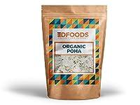 DFOODS Organic Poha | White Beaten Rice 450g