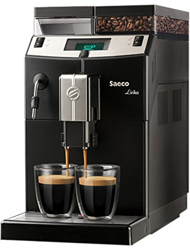 Saeco Lirika Basic Independiente 2.5L Negro, Metálico - Cafetera (Independiente, 2,5 L,...