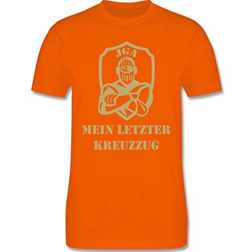 JGA Junggesellenabschied - Mein letzter Kreuzzug - Herren Premium T-Shirt Orange