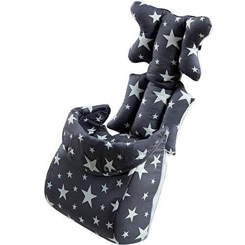 Abnehmbar Fußsack Kinderwagen Matratze Sitzauflage Winter Cozy Sitzverkleinerer Wintersack Muff für Baby (Schwarz)