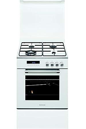 De Dietrich DCM1550W Autonome Cuisinière à gaz A Blanc four et cuisinière - fours et cuisinières (Cuisinière, Blanc, Rotatif, Toucher, En haut devant, Acier, Électronique)