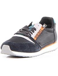 DIESEL - Baskets basses - Homme - Sneakers Anthracite Semelle Blanche Orange Slocker S pour homme