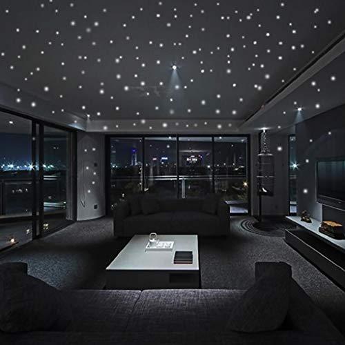 Leuchtender Punkt Aufkleber Dot Wandtattoo Leuchtsterne Selbstklebende Fluoreszierende Sterne Wandsticker Wandaufkleber...