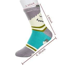 Yantu 5 Pairs Women's Warm Christmas Holiday Casual Socks, Fun Crazy Dog Print Crew Socks,Multi-colors,One Size